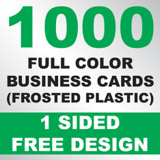 1000 Business Cards (Frosted Plastic)
