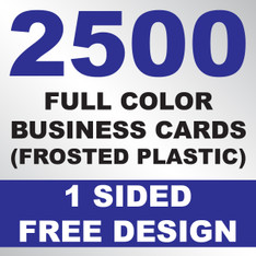 2500 Business Cards (Frosted Plastic)