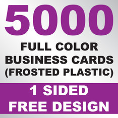 5000 Business Cards (Frosted Plastic)