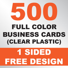 500 Business Cards (Clear Plastic)