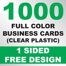 1000 Business Cards (Clear Plastic)