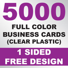 5000 Business Cards (Clear Plastic)