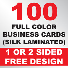 100 Business Cards (Silk Laminated)