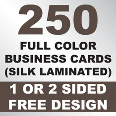 250 Business Cards (Silk Laminated)