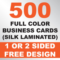 500 Business Cards (Silk Laminated)