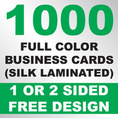 1000 Business Cards (Silk Laminated)