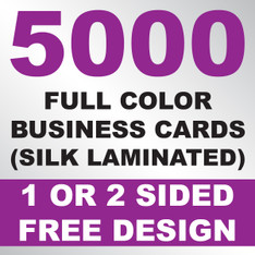 5000 Business Cards (Silk Laminated)