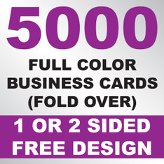 5000 Business Cards (Fold Over)