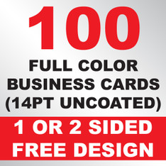 100 Business Cards (14PT Uncoated)