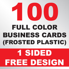 100 Business Cards (Frosted Plastic)