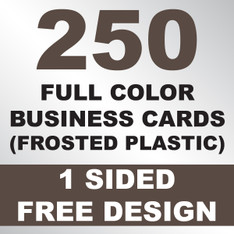 250 Business Cards (Frosted Plastic)