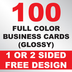 100 Business Cards (Clear Plastic)