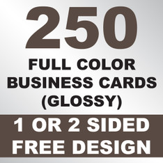 250 Business Cards (Clear Plastic)