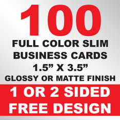 100 Business Cards (Slim)
