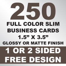 250 Business Cards (Slim)