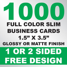 1000 Business Cards (Slim)