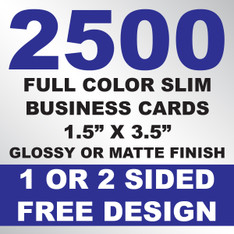 2500 Business Cards (Slim)