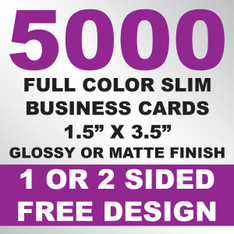5000 Business Cards (Slim)