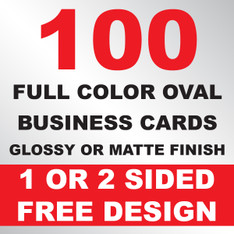 100 Business Cards (Oval)