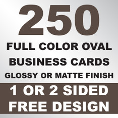 250 Business Cards (Oval)