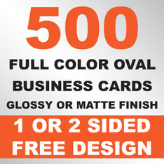 500 Business Cards (Oval)