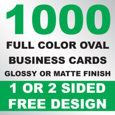 1000 Business Cards (Oval)