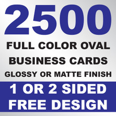2500 Business Cards (Oval)