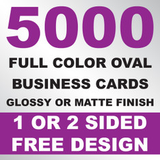 5000 Business Cards (Oval)