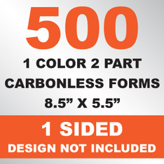 500 2 Part Carbonless Forms 8.5x5.5