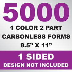 5000 2 Part Carbonless Forms 8.5x11