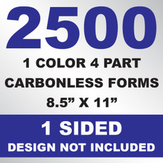 2500 4 Part Carbonless Forms 8.5x11