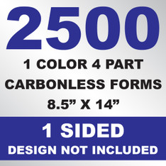 2500 4 Part Carbonless Forms 8.5x14