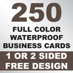 250 Waterproof Business Cards