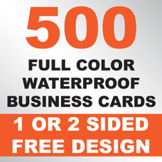 500 Waterproof Business Cards