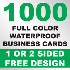 1000 Waterproof Business Cards