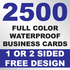 2500 Waterproof Business Cards