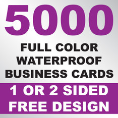 5000 Waterproof Business Cards