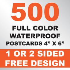 500 Waterproof Postcards 4x6
