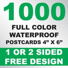 1000 Waterproof Postcards 4x6