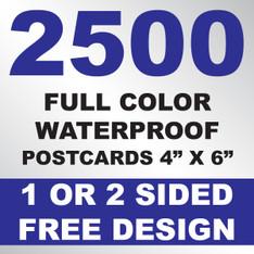 2500 Waterproof Postcards 4x6