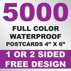 5000 Waterproof Postcards 4x6