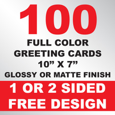 100 Greeting Cards 10x7