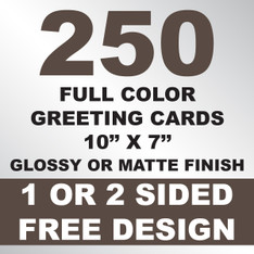 250 Greeting Cards 10x7
