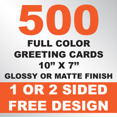 500 Greeting Cards 10x7