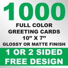 1000 Greeting Cards 10x7