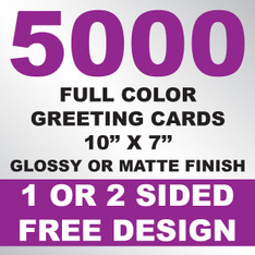 5000 Greeting Cards 10x7