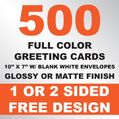 500 Greeting Cards 10x7 w/ Envelopes