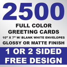 2500 Greeting Cards 10x7 w/ Envelopes