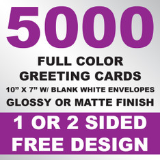 5000 Greeting Cards 10x7 w/ Envelopes