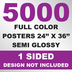 5000 Posters 24x36